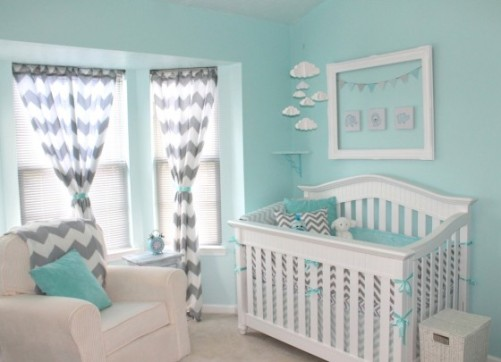 Aqua Grey Nursery Design
