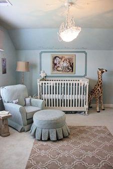 Baby blue fairytale nursery