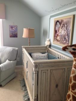 Baby girl blue fairytale nursery