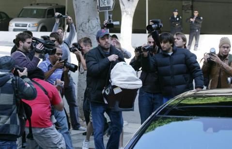 Baby Paparazzi Harrassment Ben Affleck