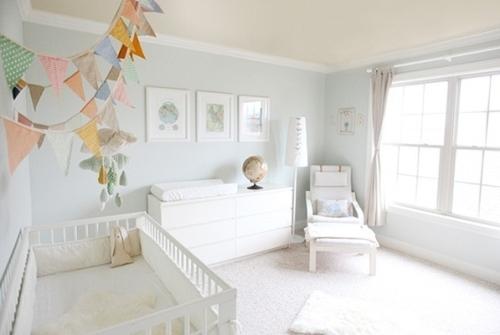 Pale blue world nursery