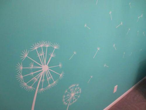 Tiffany Blue Nursery Mural