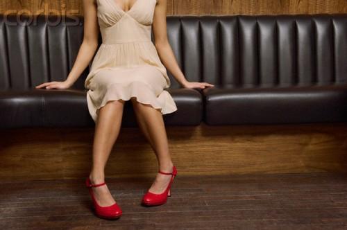 Pregnant sitting in a club