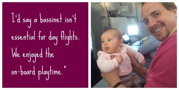 long haul flight advice baby bassinet seats