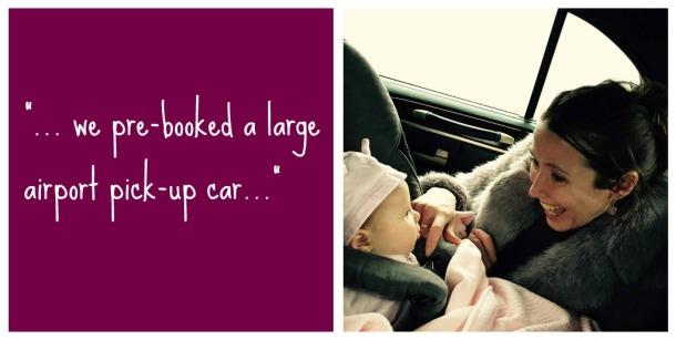 long haul flight baby tips pick-up car