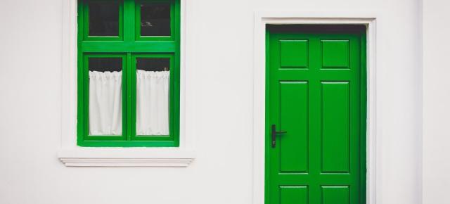 Home Door Green UNSPLASH
